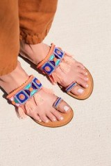 America and Beyond Wild Coast Sandal pink combo | tasseled flats | boho summer
