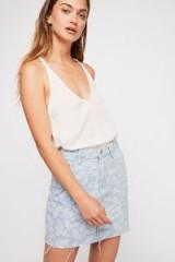 Zee Gee Why Kick Start Jacquard Skirt – Hit The Road Jac | floral denim/raw hem
