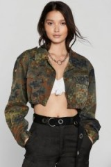 NASTY GAL After Party Vintage On Duty Camo Jacket / cropped style