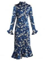 ERDEM Alta Japanese floral-print jersey dress ~ oriental prints