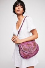 Anna Sui x Bedstu Sabanna Bag in Aubergine Combo | purple boho handbags