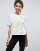 ASOS T-Shirt in Pastel Tie Dye / multicoloured pastels