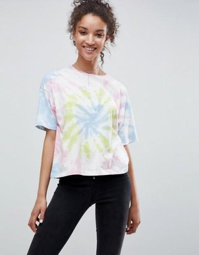 ASOS T-Shirt in Pastel Tie Dye / multicoloured pastels