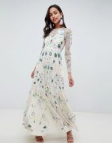 ASOS EDITION delicate floral embellished maxi dress in Lilac | long luxe occasion frock | summer parties