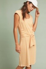 Pure + Good Audny Striped Tie-Front Dress in Orange | summer style