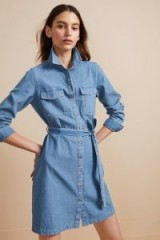 French Connection AVERY DENIM BELTED SHIRT DRESS – everyday style
