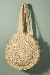 Monserat De Lucca Babette Crocheted Circle Bag in ivory | boho summer accessories