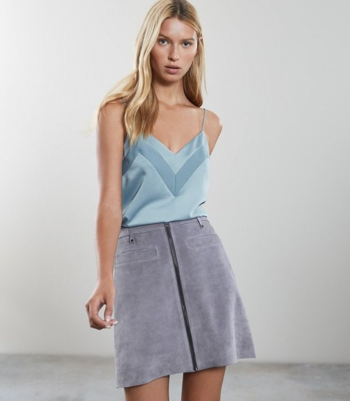 REISS BETHAN V NECK CAMI BLUE ~ strappy wardrobe essentials