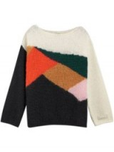 BURBERRY colour-block geometric sweater | boat neck knits