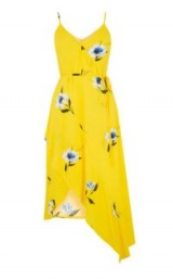 Warehouse BUTTERCUP WRAP DRESS in Yellow | strappy summer frock