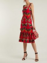 DOLCE & GABBANA Butterfly-print silk-blend midi dress ~ chic summer evening style ~ beautiful Italian clothing