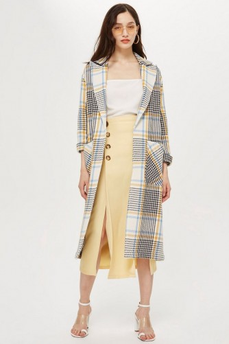 TOPSHOP Check Duster Coat / stylish summer outerwear