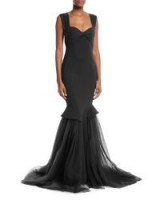 Chiara Boni La Petite Robe Grace Sweetheart Illusion Tulle Gown – chic event dresses