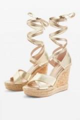 TOPSHOP Gold Classic Wedges / metallic summer sandals