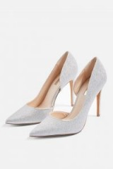 Topshop Silver Court Shoes | party feet