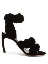 NICHOLAS KIRKWOOD Courtney scrunchie-effect black velvet sandals