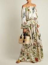 ADRIANA IGLESIAS Creek floral-print silk-blend gown ~ boho chic ~ summer evening parties