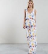 REISS DANIELLA FLORAL PRINT MAXI DRESS ~ beautiful vacation clothing