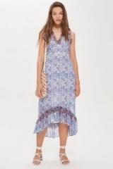 TOPSHOP Ditsy Lace Trim Maxi Dress / feminine summer style