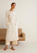 MANGO Double breasted trench | chic summer coat