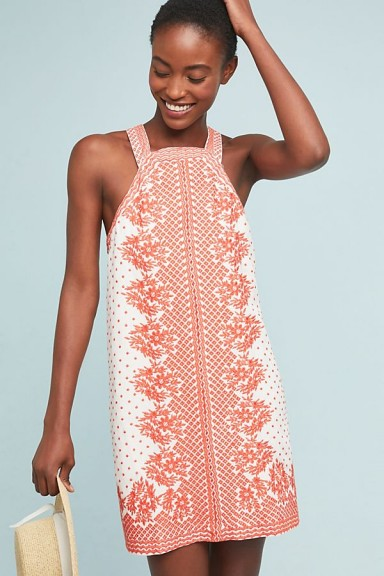 Maeve Elin Embroidered Shift Dress ~ instant summer style