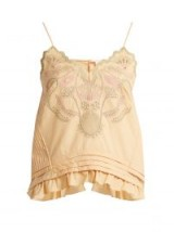 CHLOÉ Embroidered cotton voile camisole top ~ boho femme cami