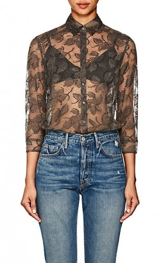 ERES Dolce Vita Floral Lace Bodysuit / sheer tops