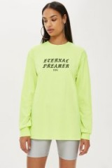 We Own The Night 'Eternal Dreamer' T-Shirt in Lime / slogan tee