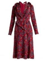 ALTUZARRA Eureka floral-print dress ~ ruffle trimmed dresses