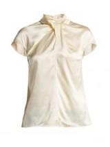 ERDEM Fianna cap-sleeved silk blouse ~ chic silky top