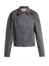 JW ANDERSON Floating sleeved grey denim jacket ~ gathered shoulders