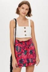 TOPSHOP Pink Floral Pyjama Shorts