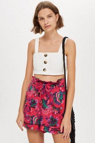 TOPSHOP Pink Floral Pyjama Shorts - flipped