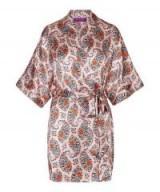 LIBERTY LONDON Florence Evelyn Silk Satin Short Kimono ~ luxe silky wrap