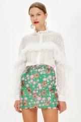 TOPSHOP Flower Sequin Mini Skirt / my floral romance