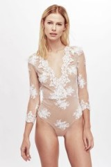 FOR LOVE & LEMONS AMBER SCALLOP EDGE BODYSUIT
