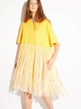 RAEY Fringed yellow cotton-jersey dress ~ vacation style