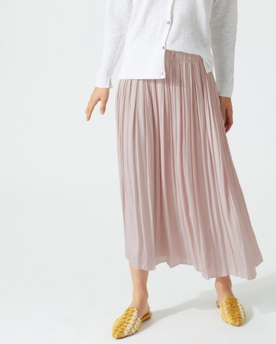Jigsaw GATHERED SKIRT in rose water