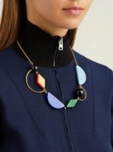 MARNI Geometric resin and metal necklace ~ statement piece