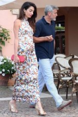 Amal and George Clooney's dinner date at Il Marino di Puntaldia in Sardinia, June 2018.