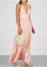 HEIDI KLEIN Oman coral python-print maxi dress ~ vacation clothing