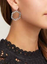 ISABEL MARANT Hexagon crystal-embellished drop earrings ~ chic statemnet