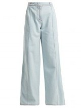 MARNI High-rise flared light-blue denim jeans