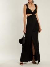 GALVAN Horizon black jersey dress ~ long cut-out evening wear