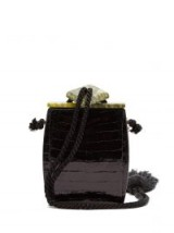 THE ROW Inrou tassel-trimmed clutch | mini croc-effect bags