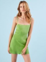 Reformation Katy Dress Margarita | strappy green slip
