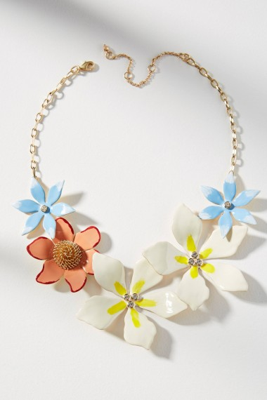Anthropologie Kelby Flower Necklace | floral statement jewellery | pretty summer accessory