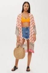 Topshop Key To Freedom Silk Kimono | oriental style summer cover-up