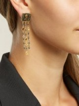 FRANCESCA VILLA 18kt gold and antique coin earrings ~ tasseled statement jewellery