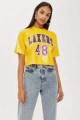 UNK X Topshop Lakers Sequin Crop Top